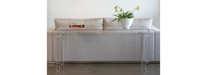 Lucite Console Designers Collection